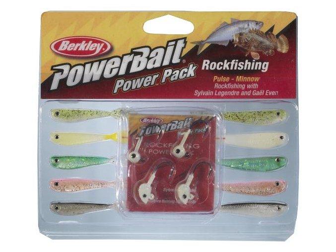 Berkley PowerBait Rockfishing Power Pack sada smáčků 5 cm + jigové hlavičky
