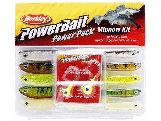 Berkley PowerBait Minnow Power Pack sada smáčků 7,5 cm/10 cm + jigové hlavičky