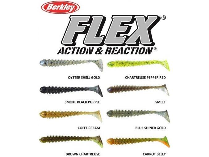 Gumové nástrahy Berkley Flex Beat Shad 10 cm