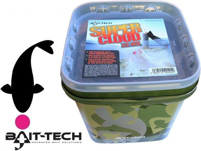 Bait-Tech speciální krmítková směs Super Cloud Zig Mix - 3 kg