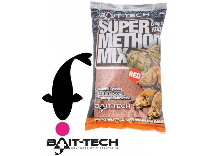 Bait-Tech krmítková směs Super Method Mix Red - 2 kg
