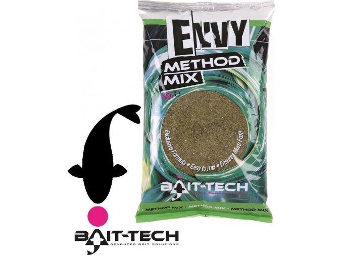 Bait-Tech krmítková směs Envy Green Hemp & Halibut Method Mix - 2 kg