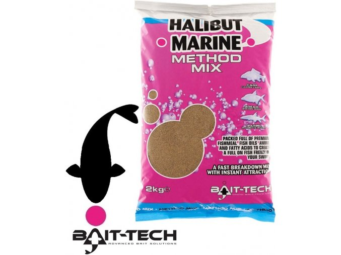 Bait-Tech krmítková směs Halibut Marine Method Mix - 2 kg