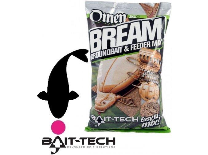 Bait-Tech krmítková směs Omen Bream Groundbait & Feeder Mix -2 kg