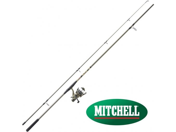 Prut Mitchell Tanager Camo Carp 3,60 m/3 lbs + naviják 60 FS