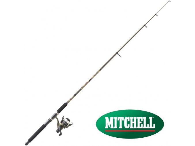 Prut Mitchell Tanager Camo Tele Spinning 1,80 m/5-15 g + naviják 20 RD