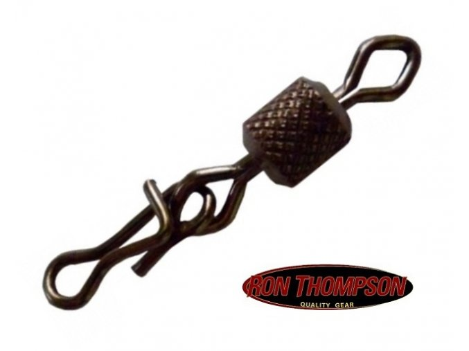 Obratlíky s karabinkou Ron Thompson Fast Clip With Swivel - 10 ks