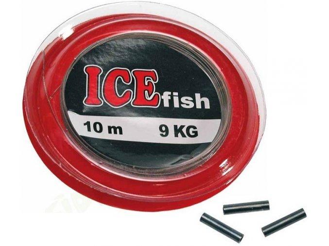 ICE Fish ocelové lanko na dravce s krimpovacími spojkami - 10 m