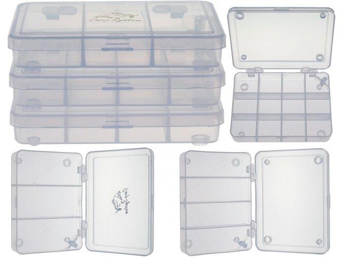 Carp System stohovací krabička 11 x 8,5 x 1,5 cm - set 3 ks