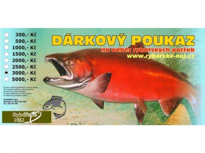Dárkový poukaz Rybářské Nej v hodnotě 3000Kč