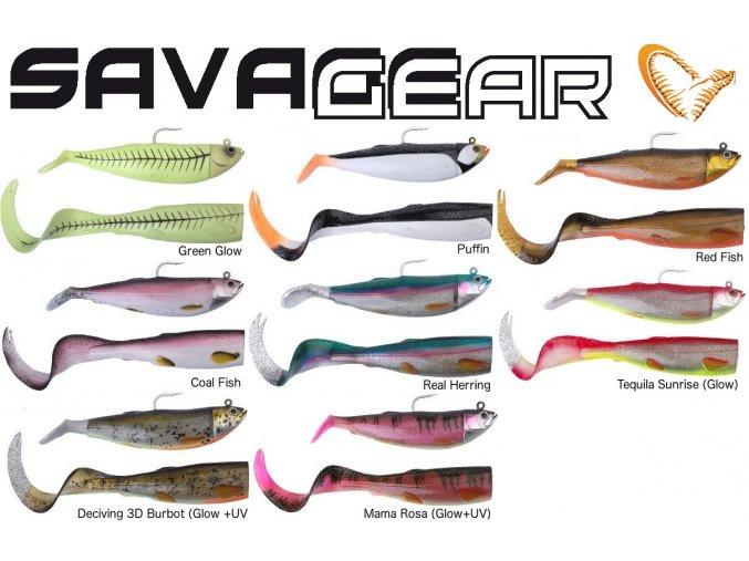 Gumové nástrahy na moře Savage Gear Cutbait Herring Kit 25 cm/460 g