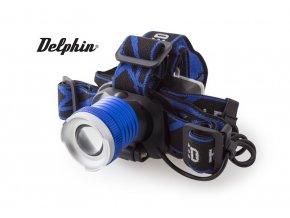 Čelová lampa Delphin Lumina