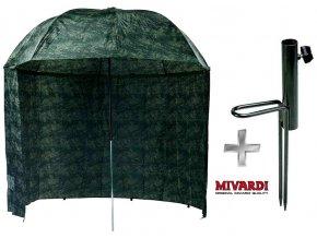 Mivardi rybářský deštník Camou PVC s bočnicemi