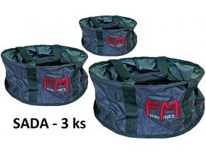 Tašky na míchání krmení Feeder Match FM - sada 3 ks