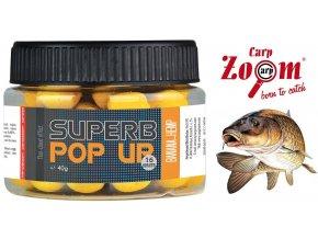 Carp Zoom Superb Pop Up plovoucí boilies 40 g/16 mm