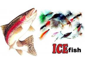 Streamery na pstruhy ICE Fish - sada STREAM / 12 ks