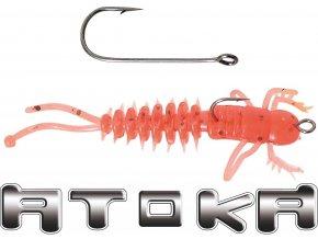 Speciální rybářské vláčecí háčky na umělé nástrahy ATOKA R ve velikostech 1 až 8.