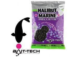 Bait-Tech Halibut Marine pelety s dírkou 900 g