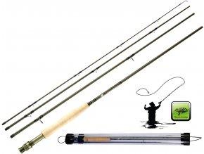 Giants Fishing muškařský prut Trout Fly CLX 9ft/#5 + tubus