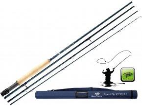 Giants Fishing muškařský prut Fluent Fly XT 9ft/#5 + tubus