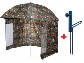 JAF Capture deštník s bočnicemi Master OX Camo 2,5 m