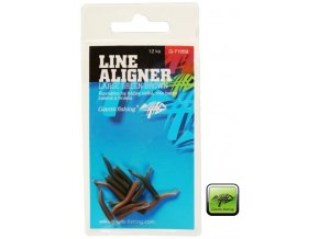 Giants Fishing rovnátka na háček Line Aligner Small Green Brown 12 pc