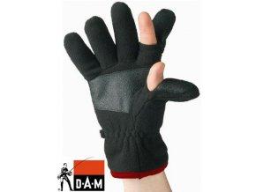 Rukavice zimní DAM Fleece černé