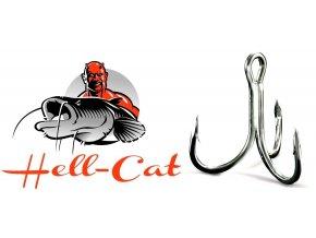 Hell-Cat trojháček na sumce a mořský rybolov 6X-Strong - 5 ks