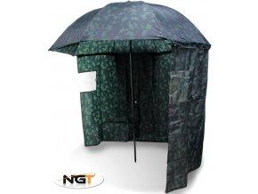NGT rybářský deštník s bočnicí kamuflážní 2,20 m