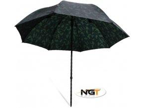 NGT rybářský deštník Camo Brolly 2,20 m