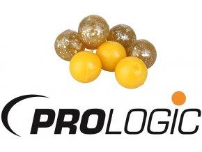 Umělé plovoucí boilies Prologic ArtBait Boilie Yellow & Ghost Glitter 14 mm
