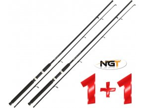 NGT prut Carp Stalker Black Rod 2pc 8 ft/2 lb - AKCE 1+1