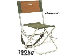 Shakespeare stolička s opěrkou a držákem prutů