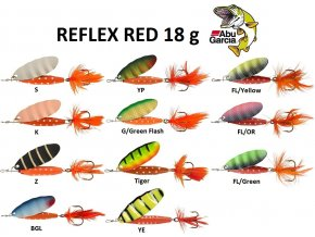 Abu Garcia třpytka Reflex Red 18 g