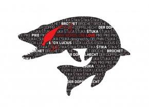 Delphin samolepka Štika Words