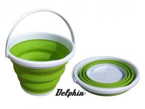 Skládací kbelík Delphin Magic