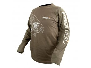Prologic tričko Carp T-Shirt Long /S Sage Green