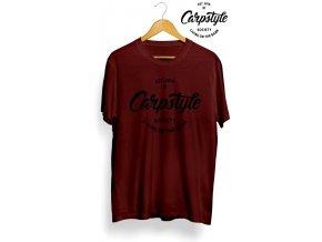 Tričko Carpstyle T-Shirt 2018 Burgundy