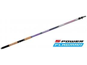 Flagman plavačkový prut S-Power Tele Match 390 cm/15-50 g