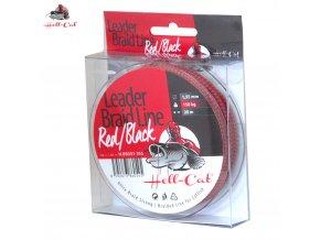 Hell-Cat návazcová šnůra na sumce Leader Braid Line Red/Black 20 m