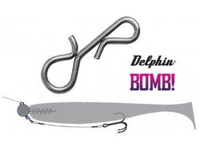 Delphin BOMB! Twisto SNAP přívlačová karabinka - 20 ks