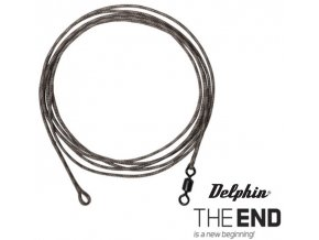 Delphin návazec The End Leadcore + swivel 3 ks