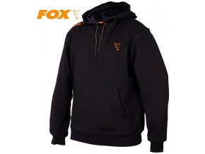 Mikina FOX Collection Black/Orange Hoodie