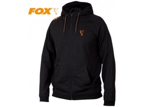 Mikina FOX Collection Black/Orange LW Hoodie