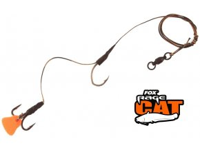FOX Rage Cat montáž na sumce Catfish Lite Powerpoint Single & Treble Hook Rig