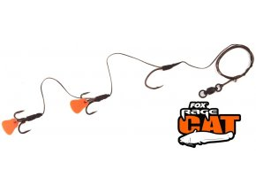 FOX Rage Cat montáž na sumce Catfish XS Powerpoint Multi Hook Rig