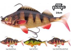 FOX Rage gumová nástraha Replicant Realistic Perch 14 cm/45 g