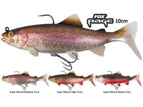 Gumové nástrahy FOX Rage Replicant Trout s realistickým barevným zpracováním 10 cm pstruha, perfektním chodem a vysoce kvalitními háčky, které jsou pro vláčecí nástrahy na candáty, štiky a další dravé ryby nezbytné.