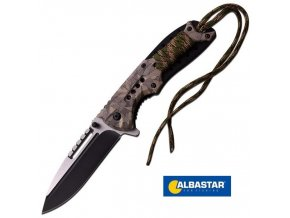 Albastar nůž vyhazovací Folding Knife Camo Handle