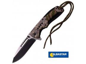 Albastar nůž vyhazovací Folding Knife Camo Handle